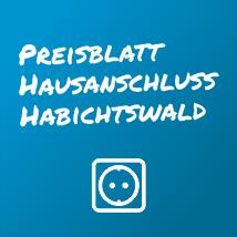 Preisblatt Hausanschluss Habichtswald