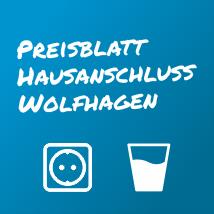 Hausanschluss: Preisblatt für Wolfhagen