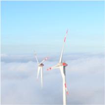 Der Windpark Wolfhagen ging 2015 ans Netz und erzeugt sauberen Ökostrom für die Region.